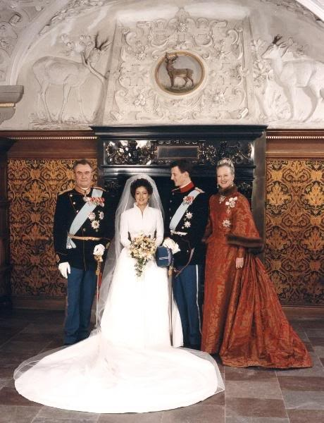 The wedding of Prince Joachim and Princess Alexandra in Frederiksborg Church in Copenhagen 1995