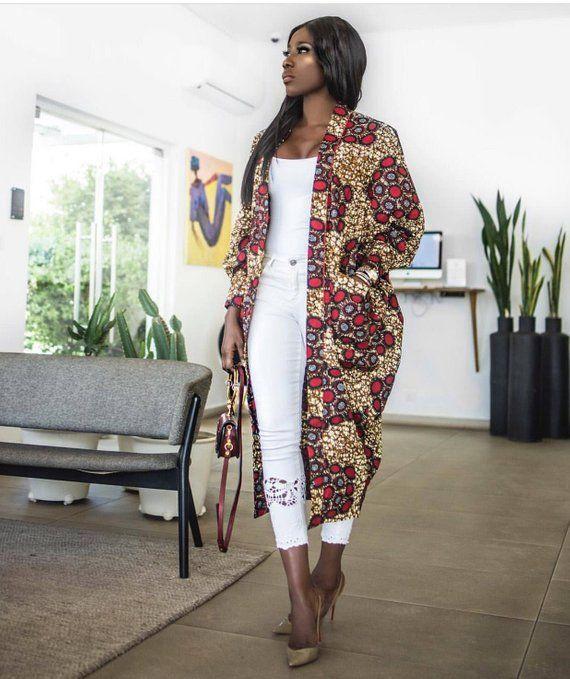 The Nimi African print Ankara Kimono jacket coat dress