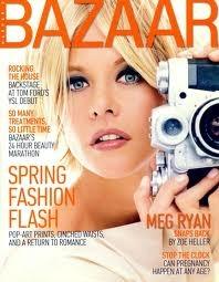 Meg Ryan  Cover of #Bazaar