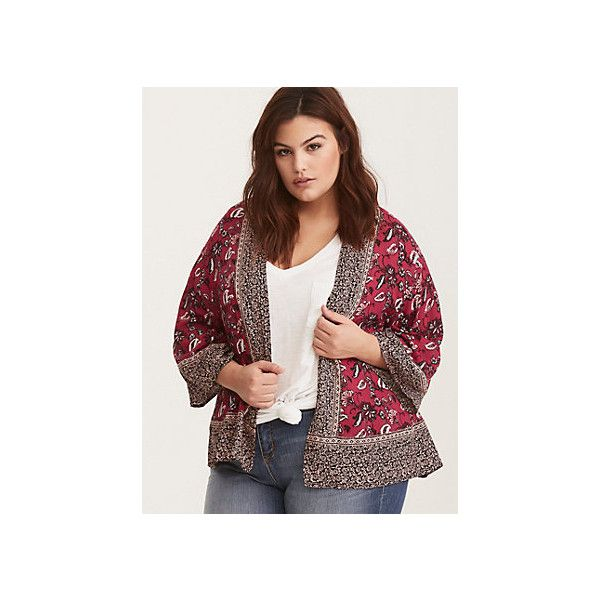 Torrid via Polyvore featuring outerwear, plus size blazers, women's plus size blazers, plus size jackets blazers, brown blazer jacket and brown blazer