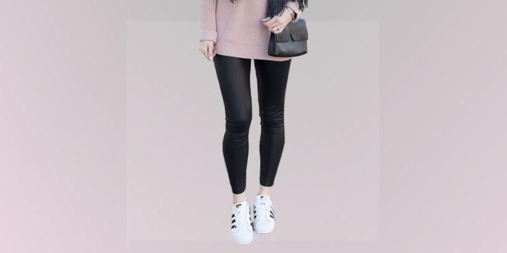 11 Looks para verte sexy y bonita usando leggings de piel