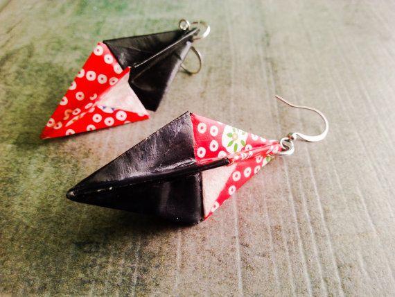 """Boucles d'oreilles en origami, Collection """"Parapluie"""""""