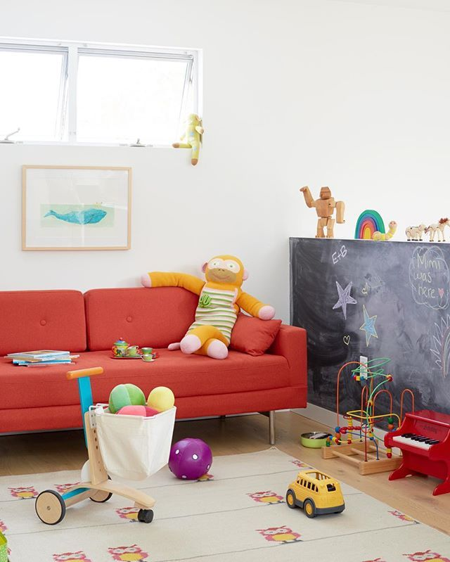We shot this space for #STYLEDthebook at the home of Noah Riley (@riley_architects), and I just rediscovered it. #EHDruleofstyle, kid edition: Chalk walls are super fun, as long as kids are old enough to understand that it's the ONLY wall they can draw on. Otherwise, it's basically calling an open season on any wall, any time. Things you learn having toddler. 📷 @davidtsay