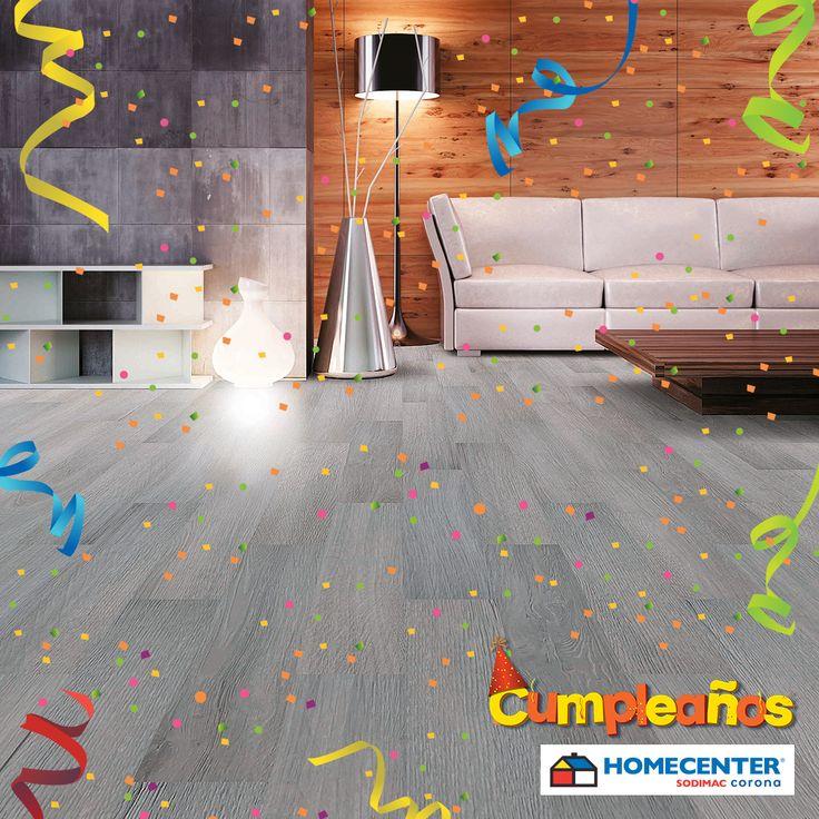 Con el #CumpleañosHomecenter renueva los pisos de tu casa y sorprende a tus invitados con lo último en tendencias para el hogar.
