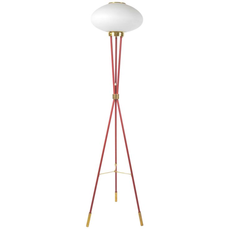 Red Floor Lamp | From a unique collection of antique and modern floor lamps  at http://www.1stdibs.com/furniture/lighting/floor-lamps/