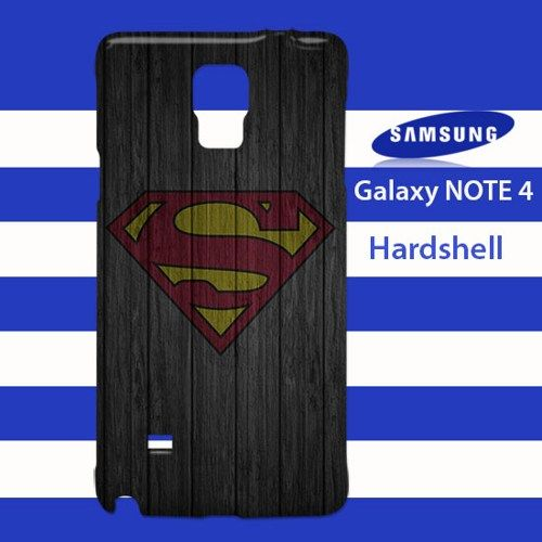 Super Man S Logo Wood Pattern Samsung Galaxy Note 4 Case Cover