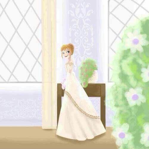 Frozen anna wedding dress