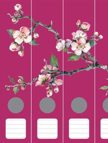 Ordnerrücken Kirschblüten himbeer