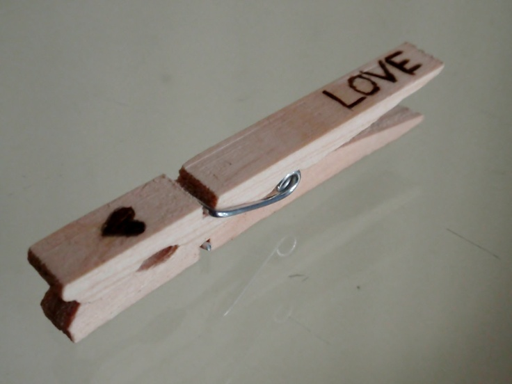 Love Heart Rustic Wedding Candy Buffet Clothes Pins - set of 20. $14.00, via Etsy.
