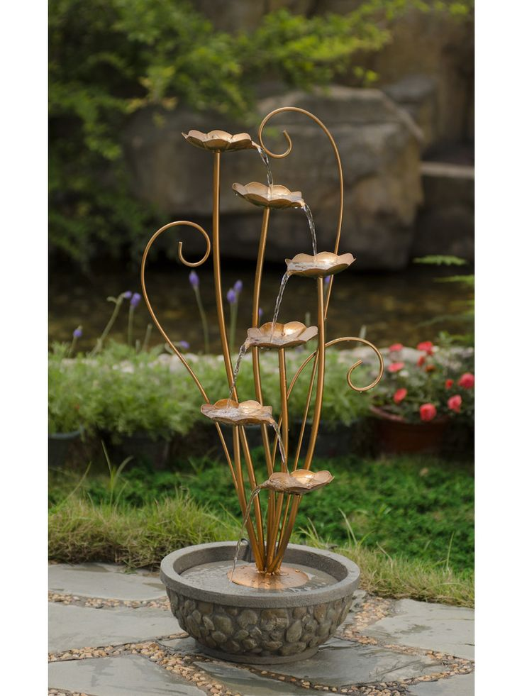 Order Jeco Metal Leaves Water Fountain from Yardify. Free Shipping & Insurance on all of our Metal Water Fountain SKU # FCL100. Order today from Yardify.com!