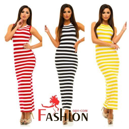 7️⃣1️⃣7️⃣руб Платье-майка в пол с полосками 204 Производитель: ELFBERG Ткань: Вискоза Длина: Макси Размеры: S (42-44), M (44-46). Цвета: черный, желтый, красный, электрик.