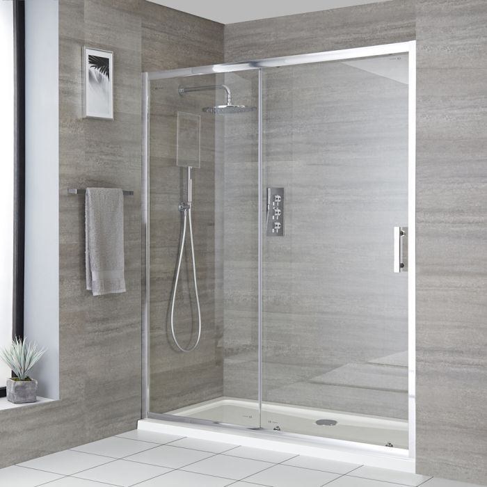 Milano Portland Sliding Shower Door Choice Of Sizes And Side