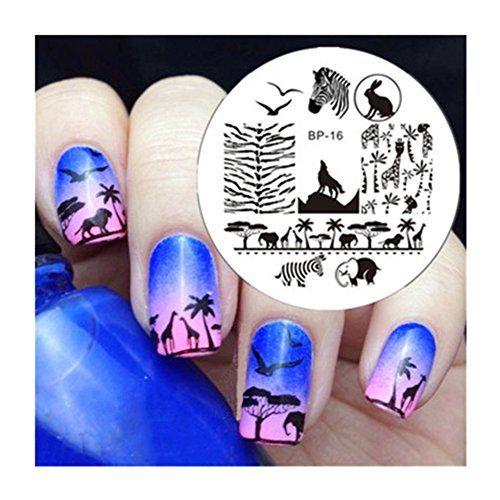 Nagel Schablone BORN PRETTY Nail Art Stamp Platte BP16 5,5cm