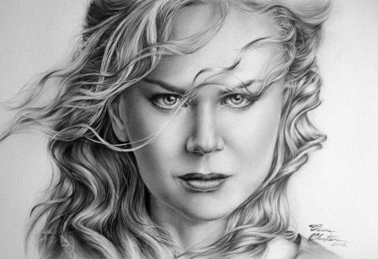 Nicole Kidman - Desen în Creion de Corina Olosutean // Nicole Kidman - Pencil Drawing by Corina Olosutean