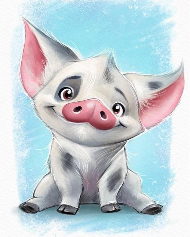 Cartoon Three Pig Square Diamond Painting