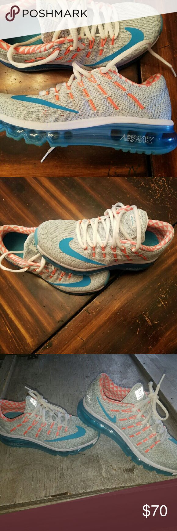 Ladies nike air max size 6.5 Flawless condition.  Worn once around house too big Nike Shoes