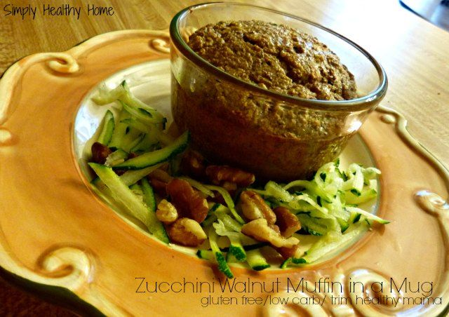 Gluten Free Zucchini Muffin in a Mug is fast and low carb.