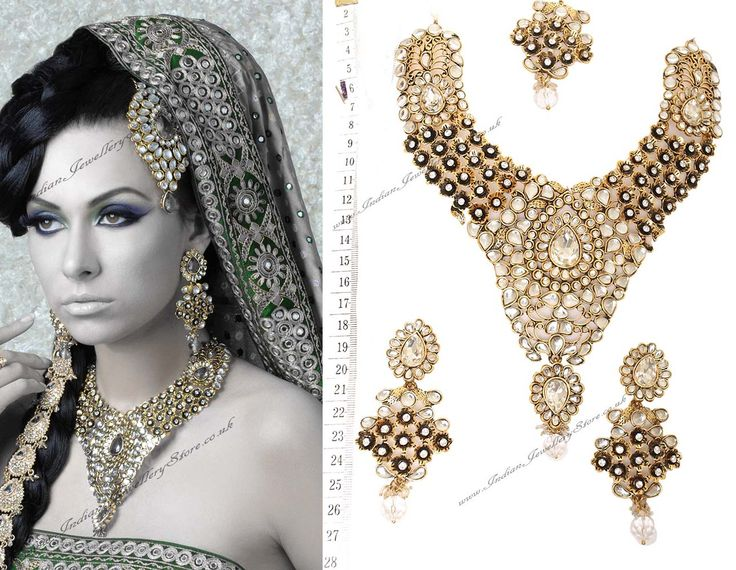 india jewelry | Indian Jewellery & Bridal Jewellery | Buy - White Gold Sets - NAWK0097