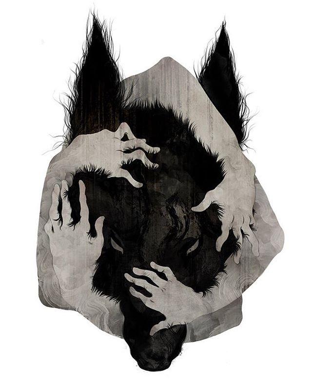 Wolf   #art #illustration #wolf