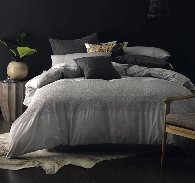 Linen House Naturals Gemima Quilt Cover Range French Grey