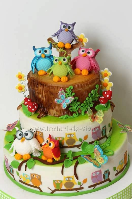 owl cake 7