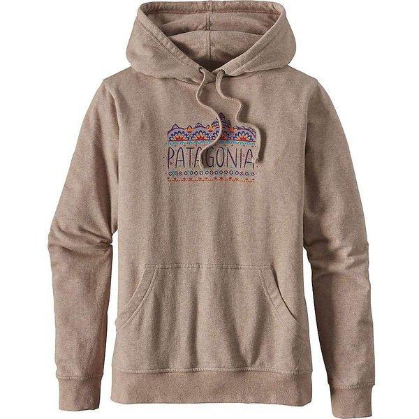 Patagonia Women's Femme Fitz Roy Lightweight Hoody ($69) ❤ liked on Polyvore featuring tops, hoodies, el cap khaki, patagonia hoodie, sweatshirt hoodies, patagonia pullover, khaki hoodie and pullover hoodies