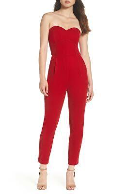199861e1947 ADELYN RAE Designer Hayden Strapless Velvet Jumpsuit