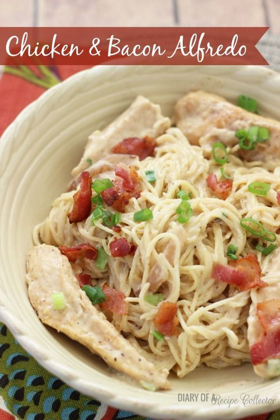 Chicken & Bacon Alfredo - An easy restaurant-s…