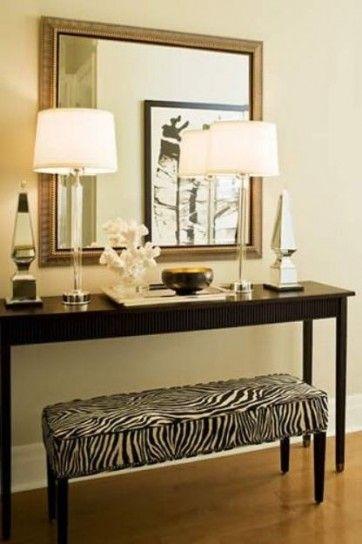 Ingresso sofisticato - Foyer arredato con un tocco unico e sofisticato