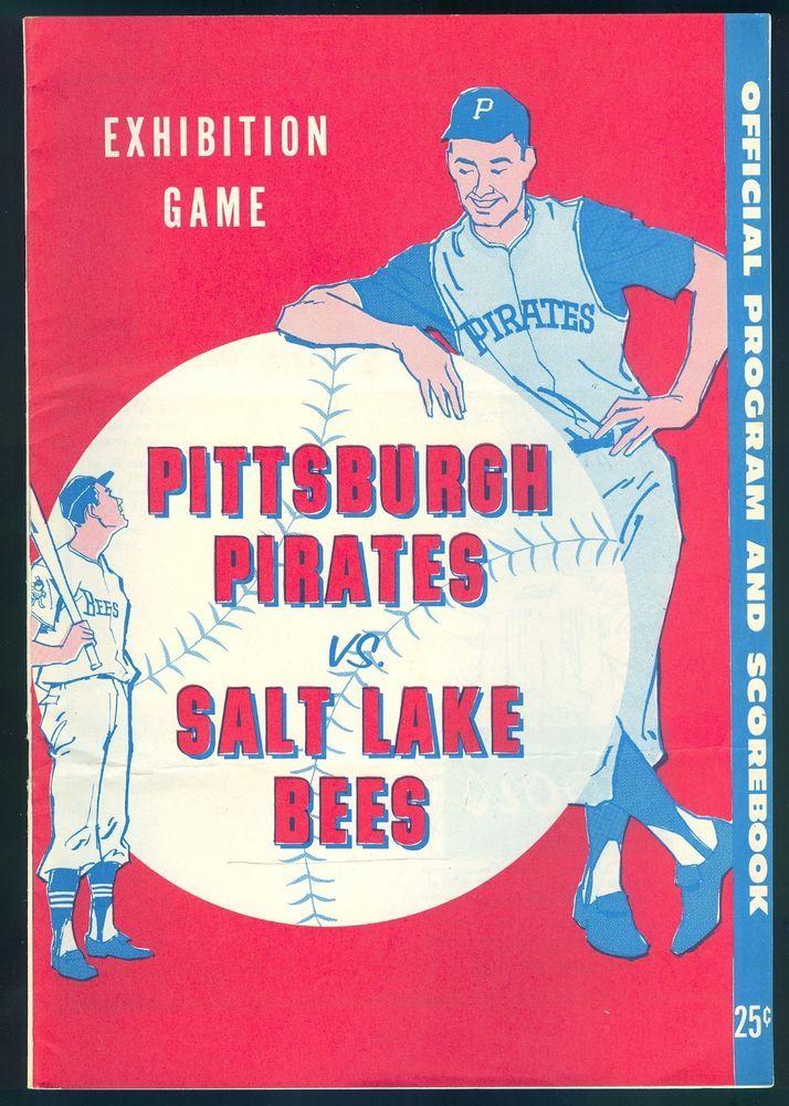 1960 Salt Lake Bees vs Pittsburgh Pirates Score Card Program ROBERTO CLEMENTE #SaltLakeBees