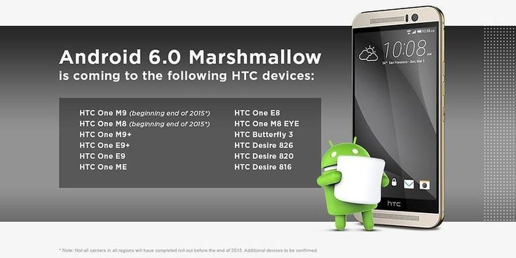 Android 6 Marshmallow update