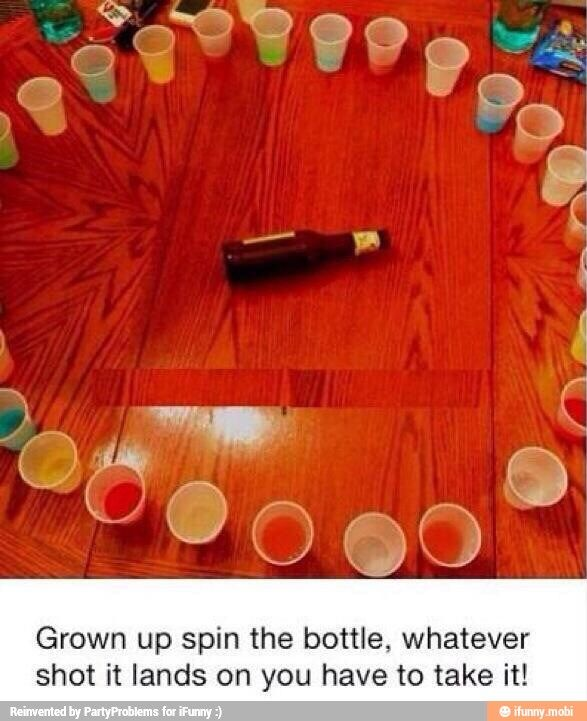 A classic game of spin the bottle with a twist ;) pun intended
