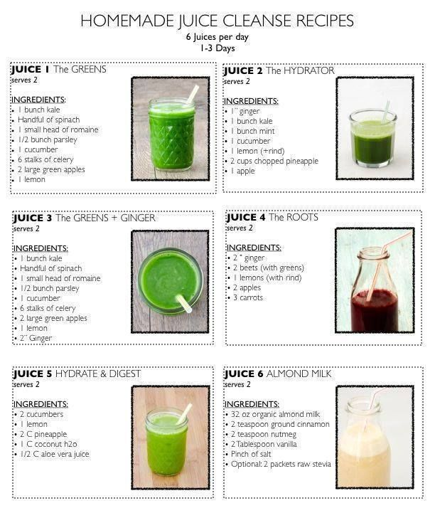 Juice cleanse for your body to get rid of toxin wastes