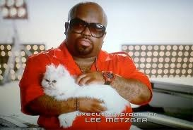 I can't help but laugh when I see Cee Lo holding a cat like Dr. Evil