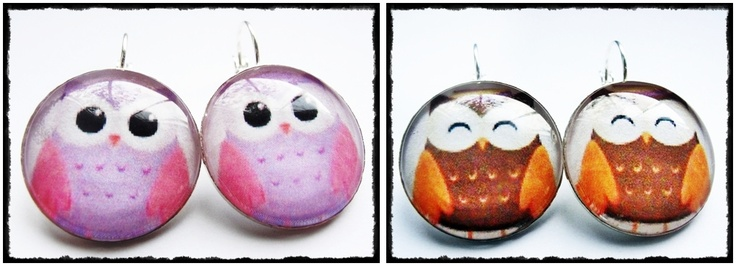 25mm earings with owls