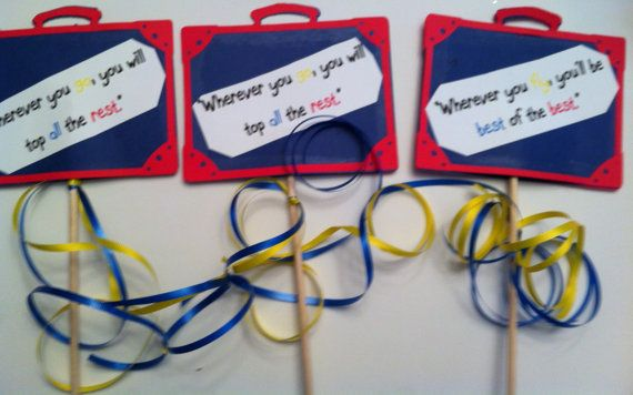 DIY Retirement Party Decorations Dr. Suess Themed..