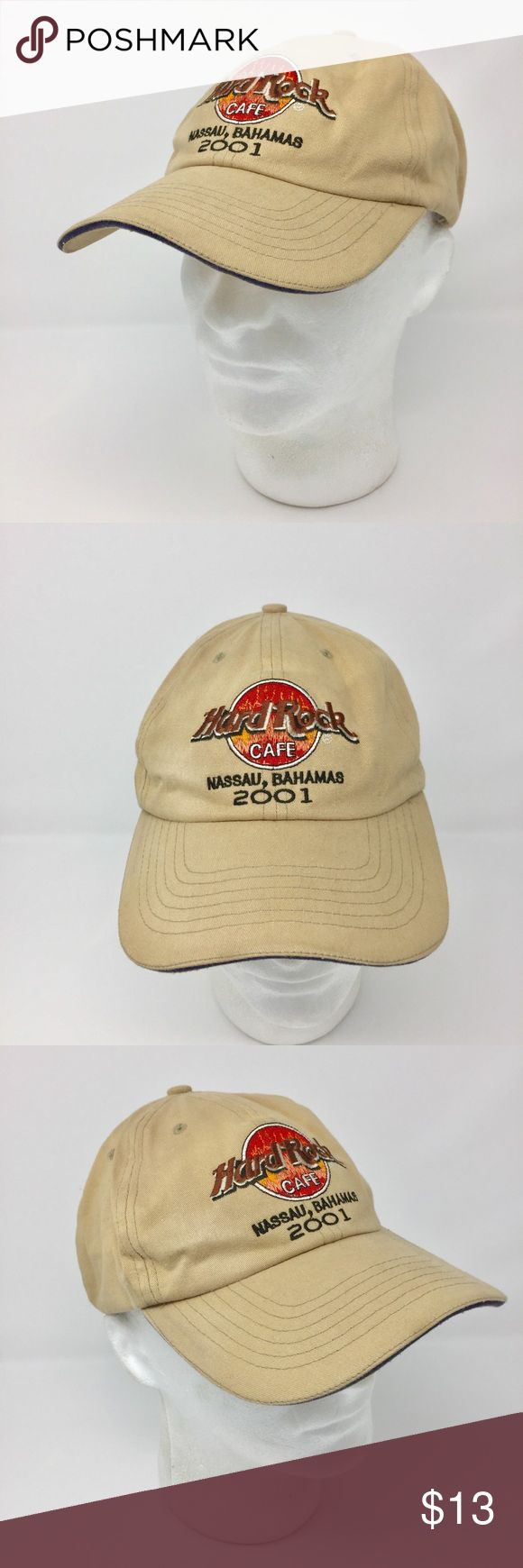 Hard Rock Cafe 2001 Nassau Bahamas Hat Distressed This listing is for a Hard Rock Cafe 2001 Nassau Bahamas Baseball Hat Khaki Flame Aged Distressed OS   We LOVE finding unique and special hats ... of all kinds. Some are new and some have been pre-owned.   We sell NFL, NBA, NHL, and MLB hats. NCAA hats and NASCAR hats. And, we find other great hats like this one ...  Comes from a smoke free and pet free environment. Hat will be shipped in a box to prevent it from from getting crushed. Hard…