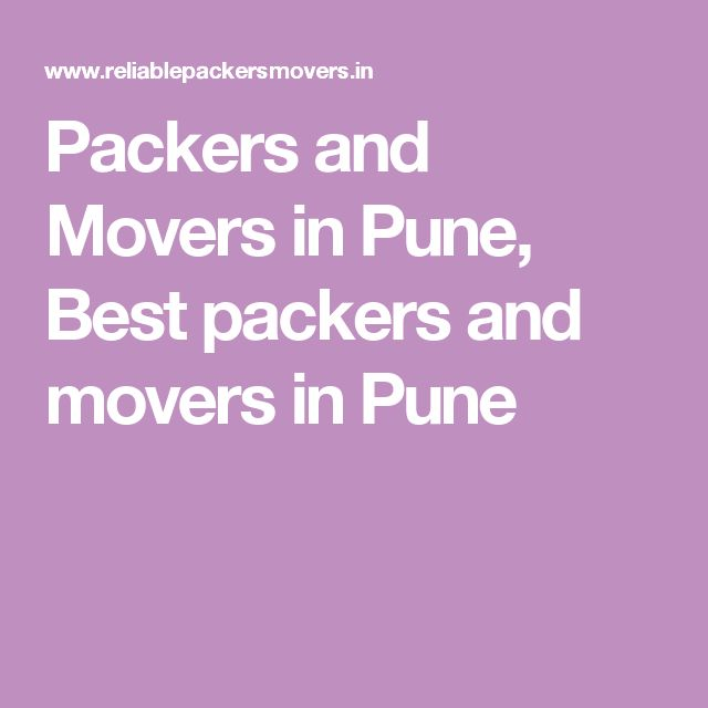 Packers and Movers in Pune, Best packers and movers in Pune