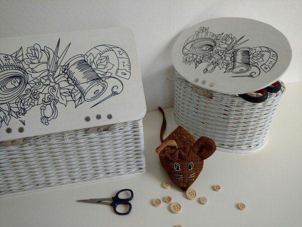 Шкатулки из бумажной лозы
