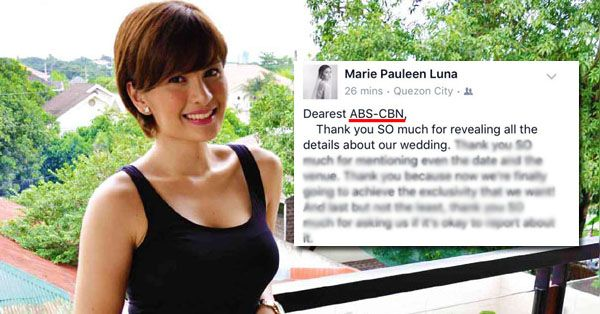 [Trending Now] Pauleen Luna Irritated At Abs-Cbn For Revealing Her Wedding Details