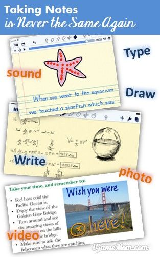Taking Notes is never the same again with Notability App - handwriting, typing, drawing, voice, photo, video; collaborate, annotate on PDF, notes, pictures; and many sharing options. #kidsapps