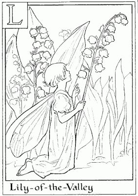 Letter L For Lily Of The Valley Flower Fairy Coloring Page