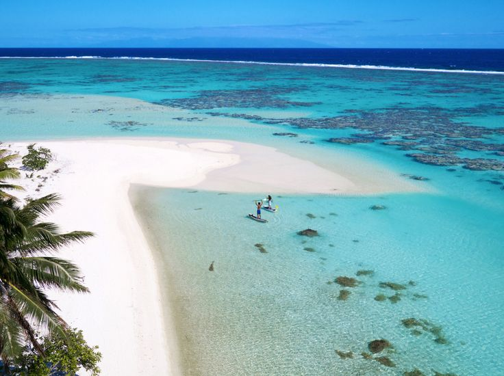 I want to be here, #Tahiti has all the ingredients of a castaway #fantasy: a talcum-powder #beach dotted with driftwood, palm trees for shade, and gently lapping translucent water.
