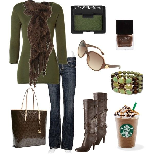 """Fall Love"" by chelseawate on Polyvore: Clothing Ideas, Dreams Closet, Green And Brown, Greenandbrown, Fall Looks, Fall Outfits, Fall Fashion, Polyvore, Dreams Wardrobes"
