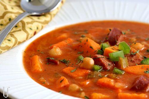 CARIBBEAN SWEET POTATO & SAUSAGE SOUP | Soups & Salads | Pinterest