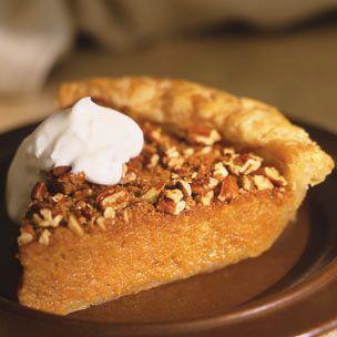 Sweet Potato Pie with Pecan Streusel ] Using light brown sugar, pecans ...