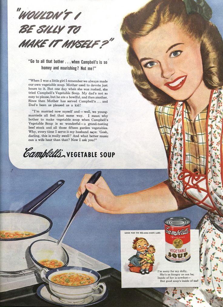 Vintage advertising - marketing the Campbell's Soup brand! Description from pinterest.com. I searched for this on bing.com/images