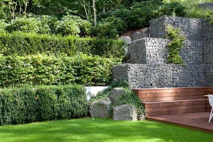 bildergebnis f r gartengestaltung hanglage gabionen garten pinterest gartengestaltung. Black Bedroom Furniture Sets. Home Design Ideas