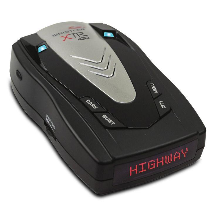 Whistler XTR-430 Laser Radar Detector w/ Total Band Protection