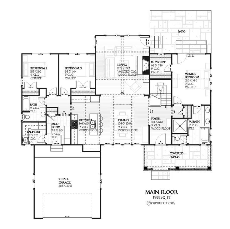 33 best fabulous floorplans images on pinterest floor for House plans utah craftsman